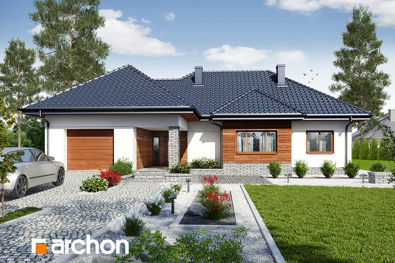 gotowy projekt Dom w akebiach 6 widok 1