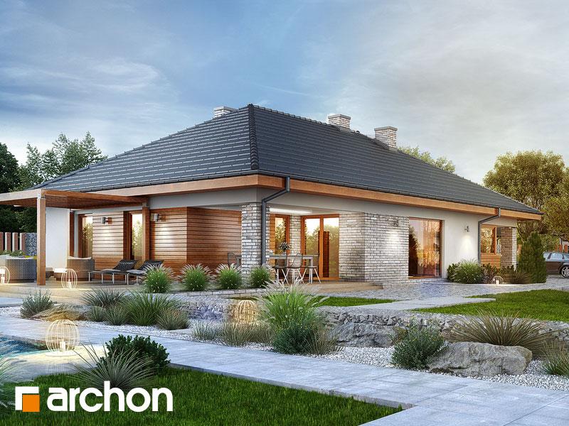 gotowy projekt Dom w modrzewnicy 2 (G2A) widok 1