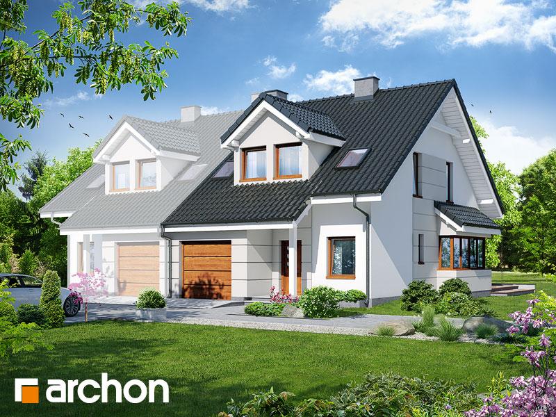 gotowy projekt Dom w klematisach 7 (B) widok 1