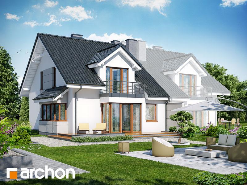 gotowy projekt Dom w klematisach 7 (B) widok 2