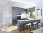 projekt Dom w sasankach 3 Wizualizacja kuchni 1 widok 1