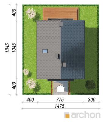 projekt Dom w sasankach 3 sytuacja