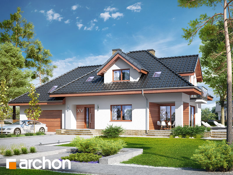 gotowy projekt Dom w kannach 5 (G2) widok 1