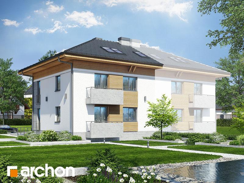 gotowy projekt Dom w sagowcach 2 (P) widok 1