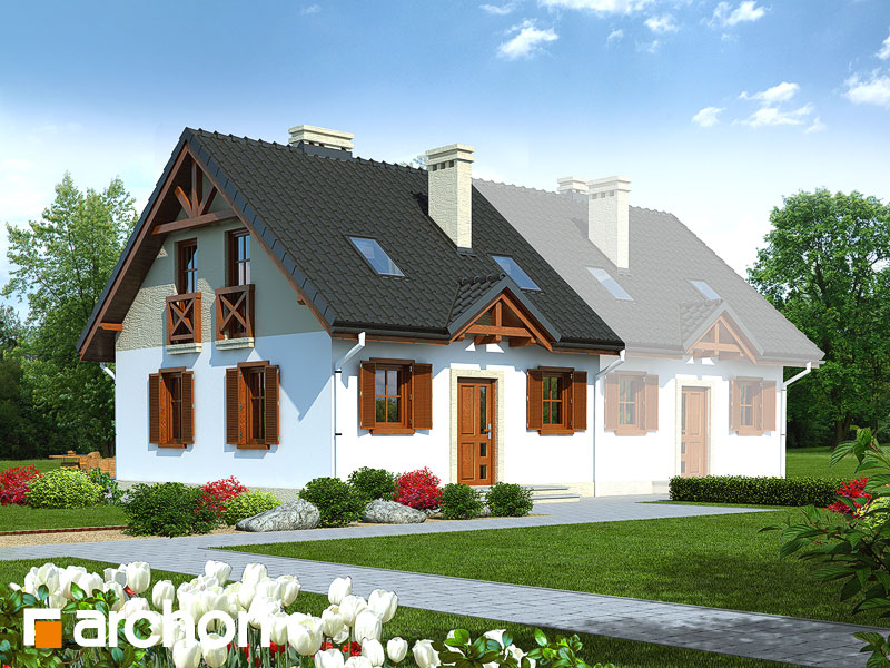projekt Dom w borówkach (B) widok 1