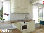 projekt Dom w żurawkach Aranżacja kuchni 1 widok 2