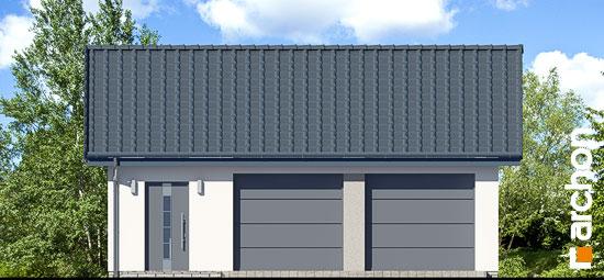 Elewacja frontowa projekt garaz 2 stanowiskowy g27  264