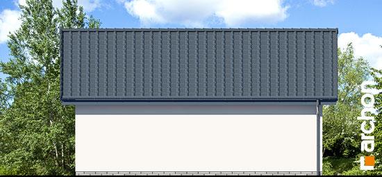 Elewacja ogrodowa projekt garaz 2 stanowiskowy g27  267