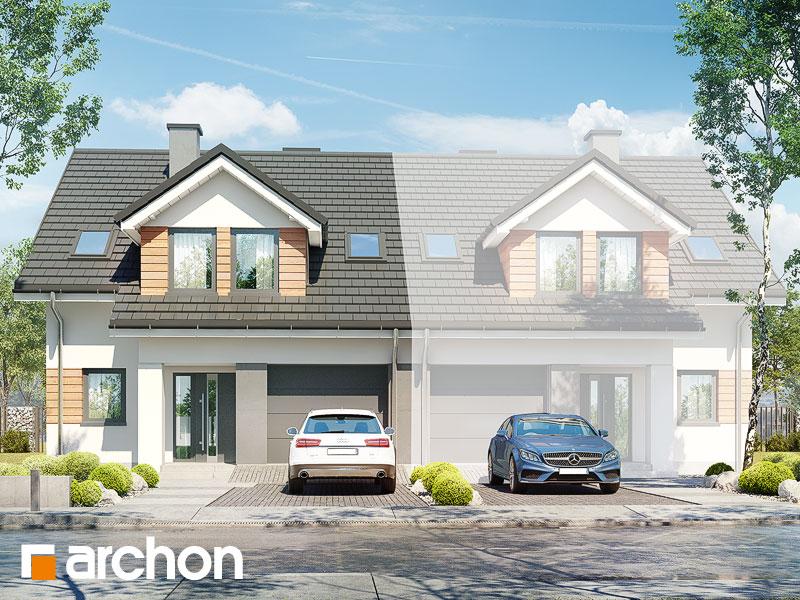 gotowy projekt Dom pod agawami 3 (B) widok 1
