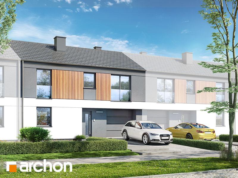 gotowy projekt Dom w murajach (GS) widok 1