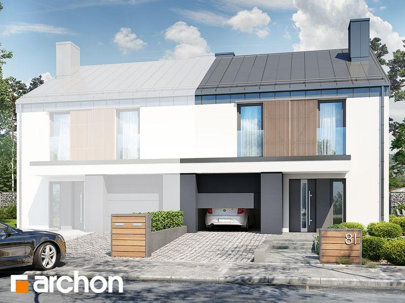 gotowy projekt Dom w narcyzach (B) widok 1