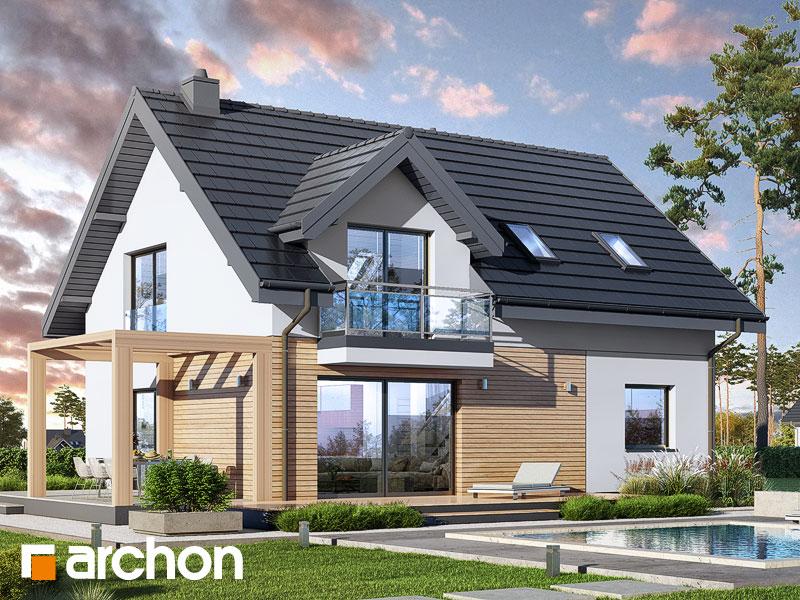 gotowy projekt Dom w zielistkach 14 widok 1