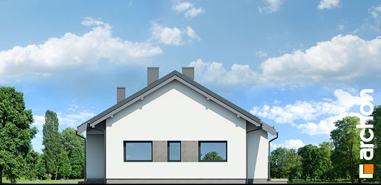 Elewacja boczna projekt dom w peperomiach 2  265