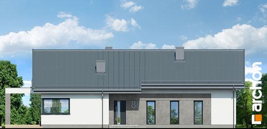 Elewacja frontowa projekt dom w peperomiach 2  264
