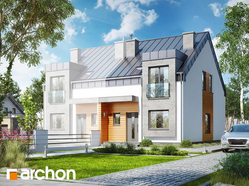gotowy projekt Dom pod miłorzębem 9 (BN) widok 1