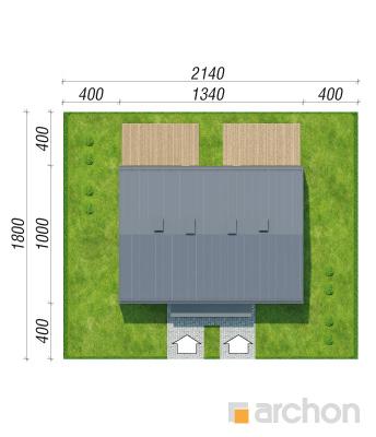 projekt Dom w tunbergiach 3 (R2) sytuacja