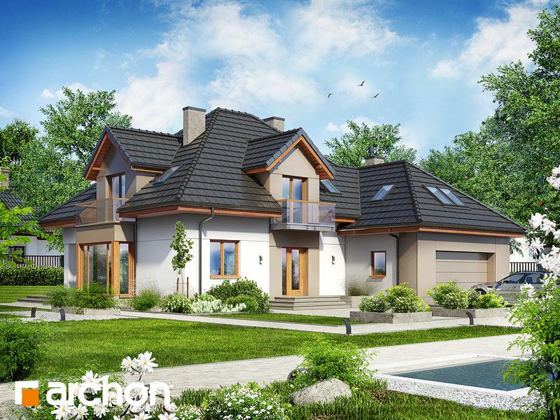 gotowy projekt Dom w nagietkach 2 (N) widok 1
