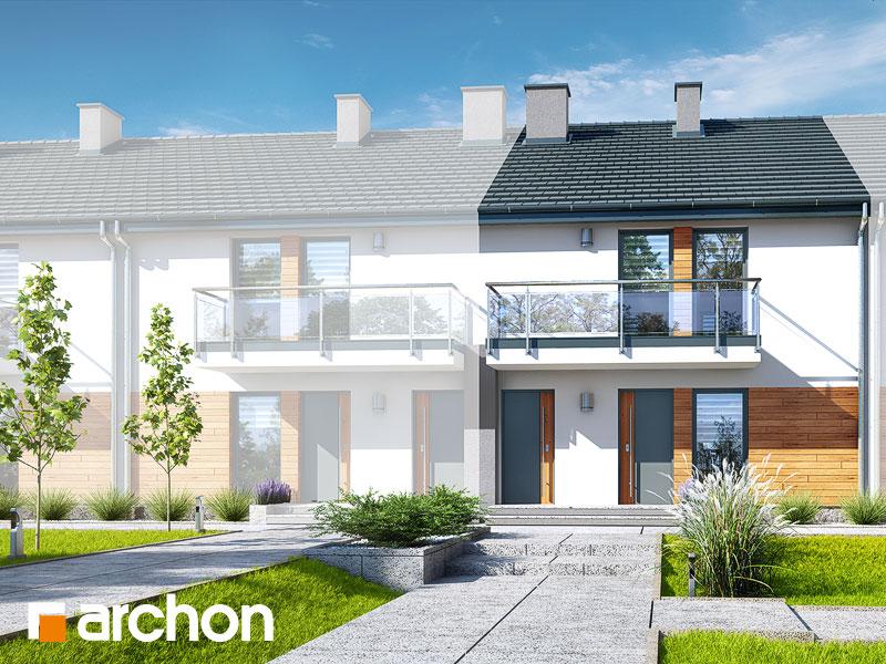 projekt Dom w bratkach (R2S) widok 1