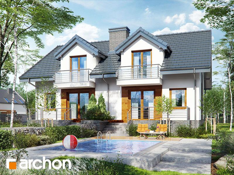 gotowy projekt Dom w cyklamenach 4 (P) widok 1