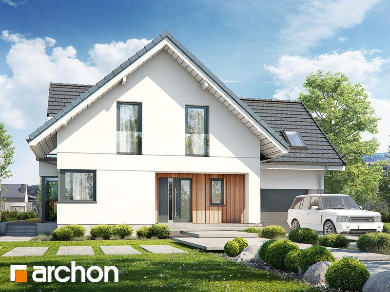 gotowy projekt Dom w rododendronach 27 widok 1