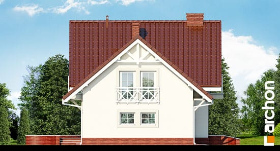 Elewacja boczna projekt dom w perlowce 2 ver 2  266