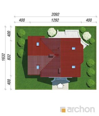 projekt Dom w perłówce 2 sytuacja