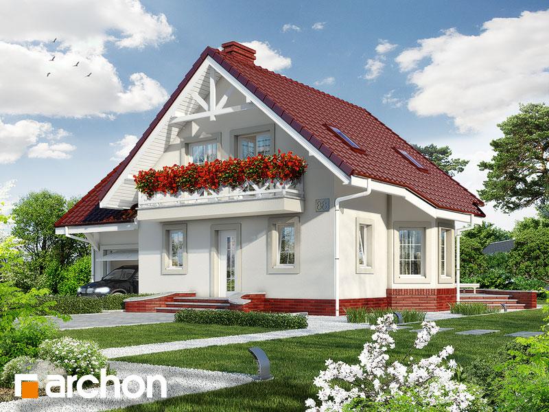 gotowy projekt Dom w perłówce 2 widok 1