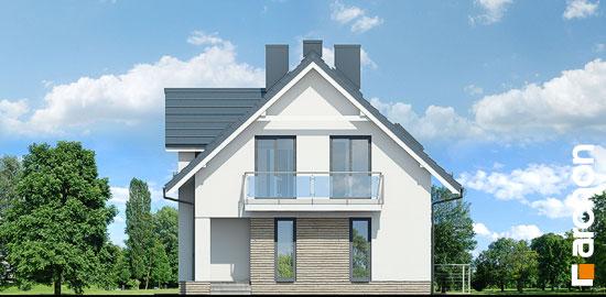 Elewacja boczna projekt dom w cynobrowkach p  265
