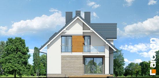 Elewacja boczna projekt dom w cynobrowkach p  266