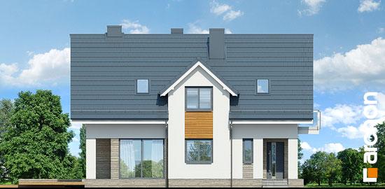 Elewacja frontowa projekt dom w cynobrowkach p  264