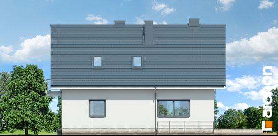 Elewacja ogrodowa projekt dom w cynobrowkach p  267