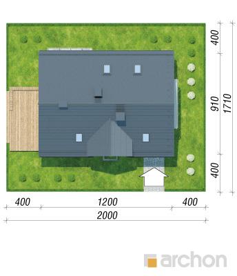 projekt Dom w cynobrówkach (P) sytuacja