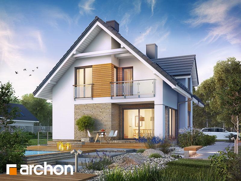 gotowy projekt Dom w cynobrówkach (P) widok 1