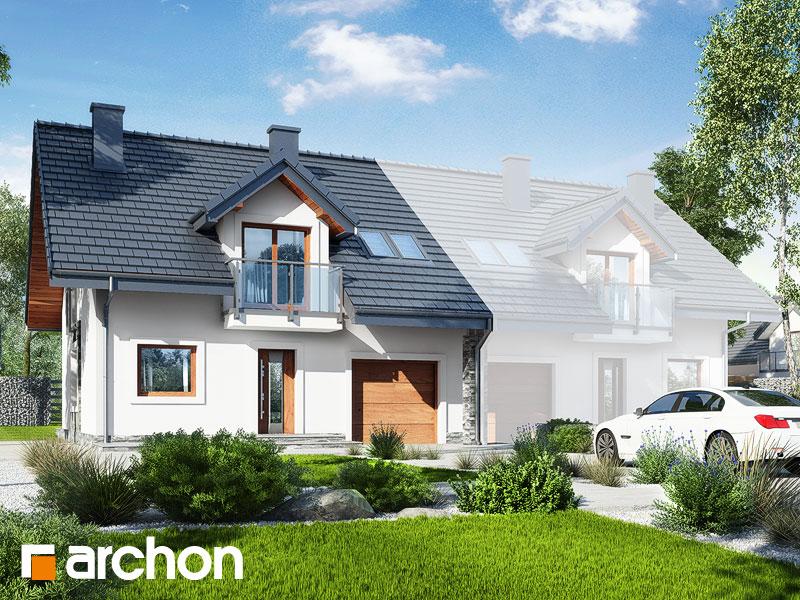 gotowy projekt Dom w cyklamenach 3 (B) widok 1