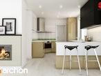 projekt Dom w idaredach (G2) Aranżacja kuchni 1 widok 2