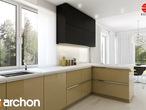 projekt Dom w idaredach (G2) Aranżacja kuchni 1 widok 3