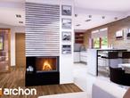 projekt Dom w idaredach (G2) Strefa dzienna (wizualizacja 3 widok 2)