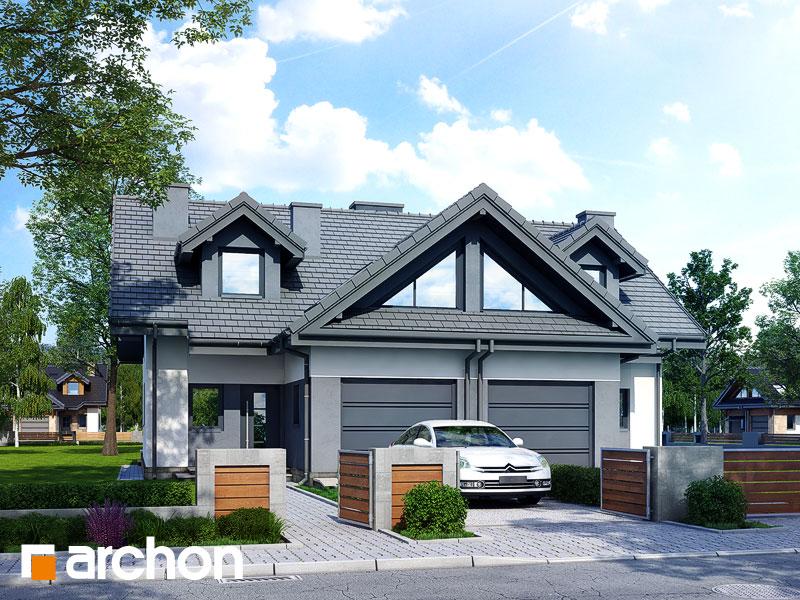 gotowy projekt Dom w klematisach 5 widok 1