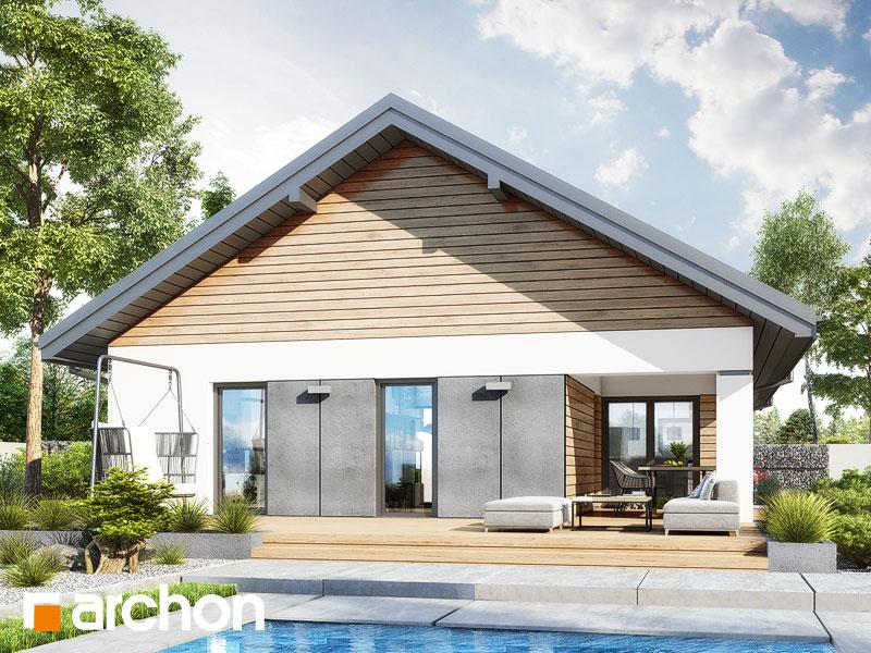 gotowy projekt Dom w modrzewnicy 3 widok 2