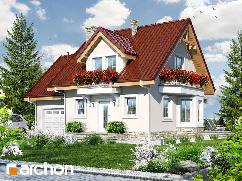 gotowy projekt Dom w winogronach 4 widok 1