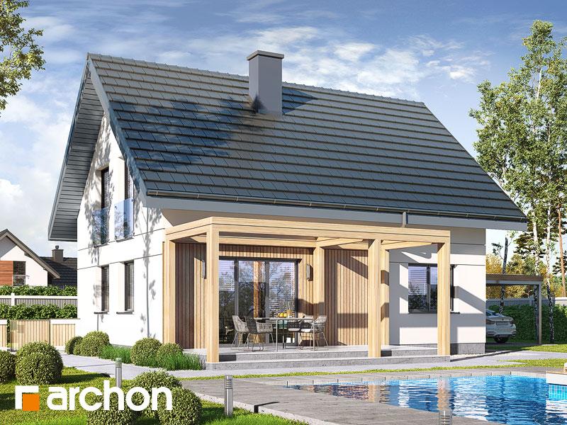 gotowy projekt Dom w zielistkach 11 widok 1