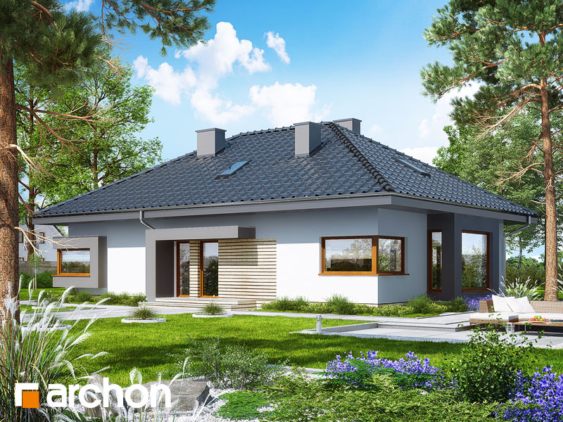gotowy projekt Dom pod jarząbem 11 (N) widok 1