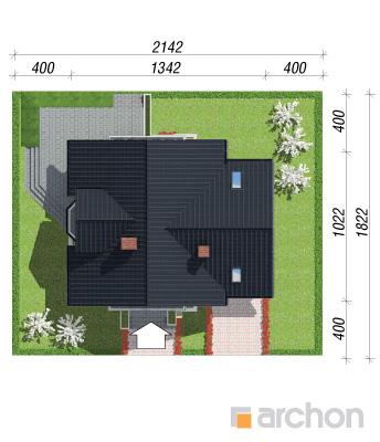 projekt Dom w rododendronach 5 (P) sytuacja