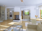 projekt Dom w rododendronach 5 (P) Strefa dzienna (wizualizacja 1 widok 1)