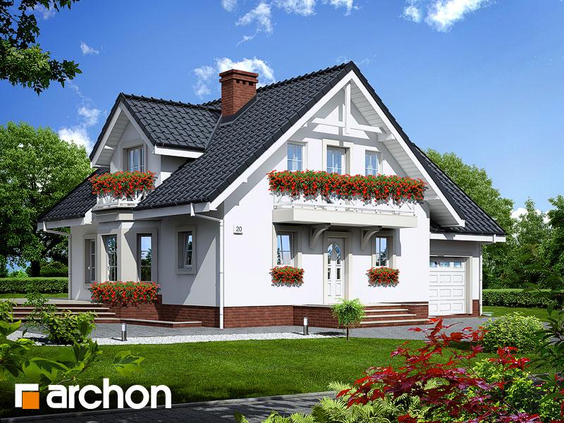 gotowy projekt Dom w rododendronach 5 (P) widok 1