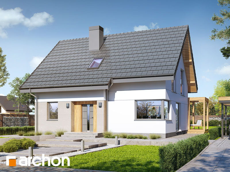 gotowy projekt Dom w zielistkach (A) widok 1