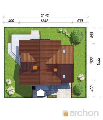 projekt Dom w rododendronach 5 sytuacja