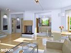 projekt Dom w rododendronach 5 Strefa dzienna (wizualizacja 1 widok 1)