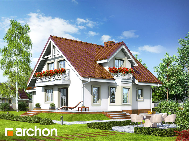 gotowy projekt Dom w rododendronach 5 widok 1