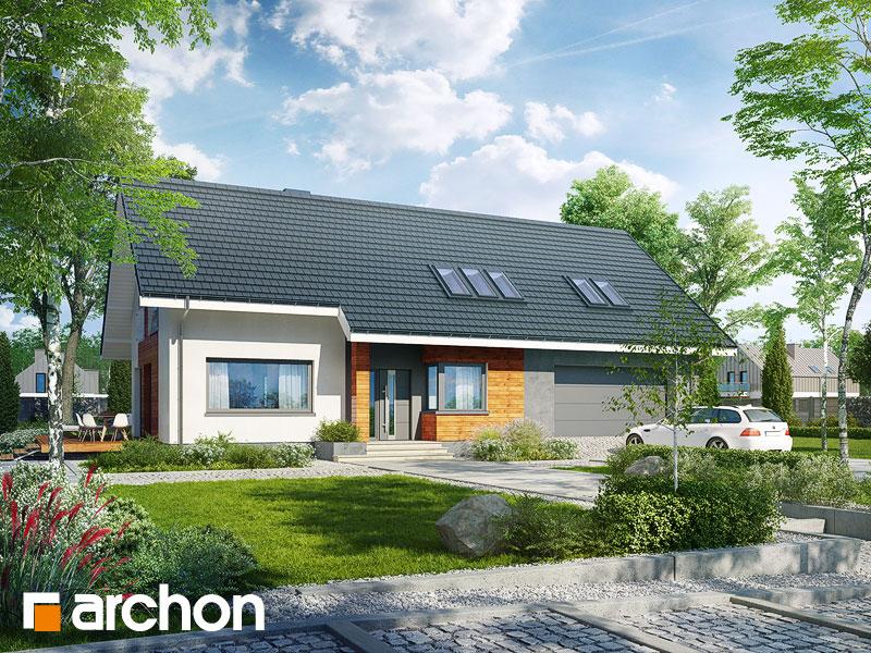 gotowy projekt Dom w bugenwillach (G2) widok 1